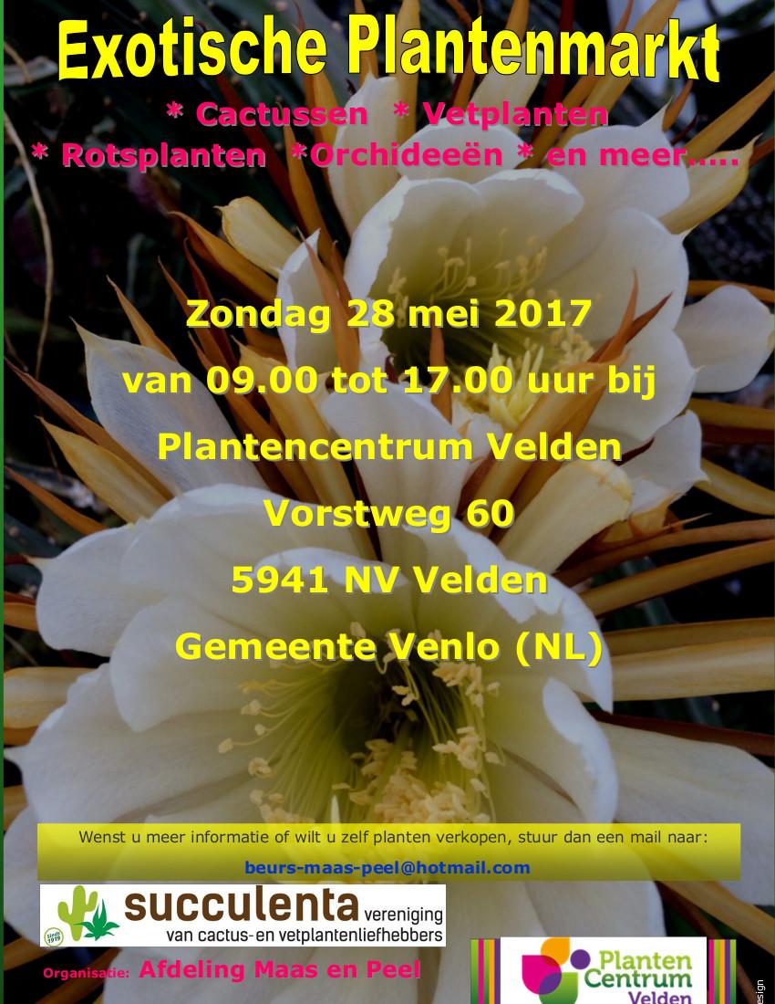 Exotische Plantenmarkt Afd. Maas En Peel Op 28 Mei