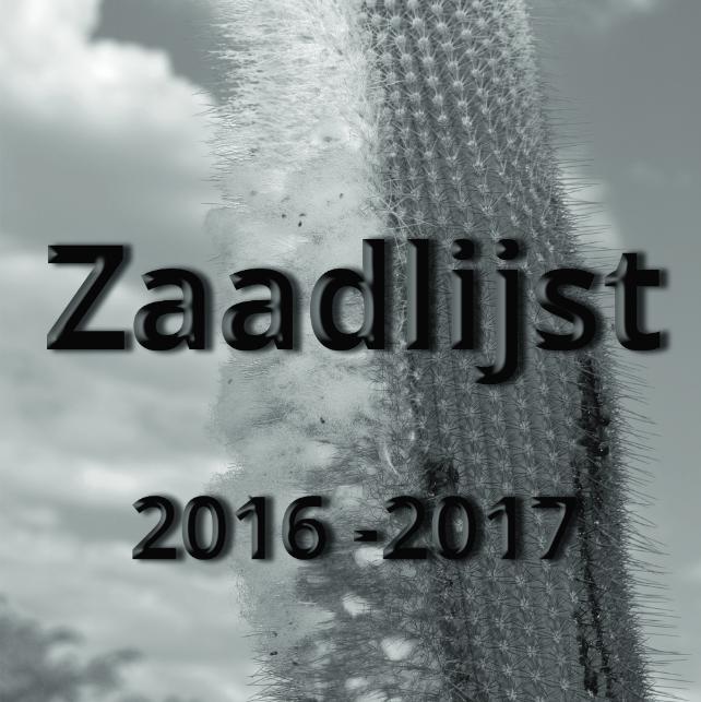 Zaadlijst 2016 – 2017