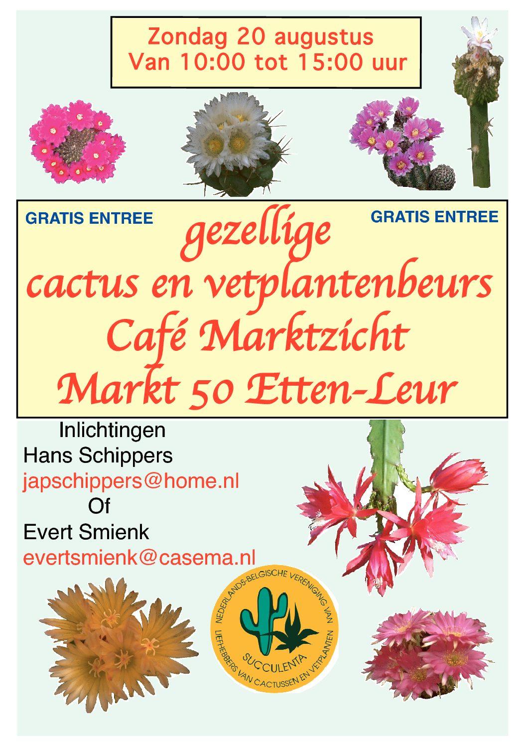 Succulentenbeurs Op 20 Augustus In Etten-Leur