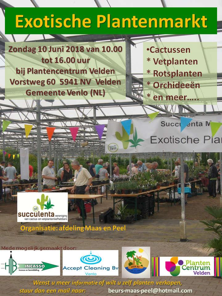 Flyer Voor Exotische Plantenmarkt 2018