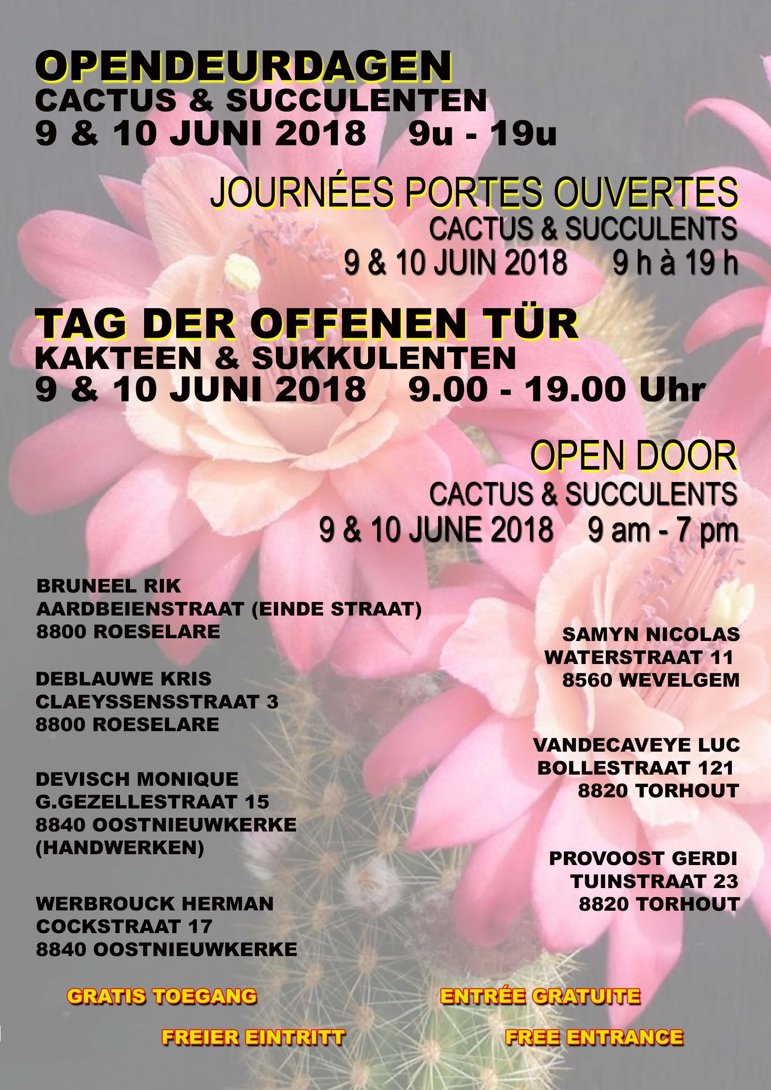 9 En 10 Juni: Opendeurdagen Omgeving Roeselare (België)