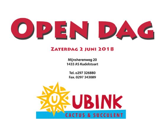 2 Juni Open Dag En Plantenbeurs Bij Ubink