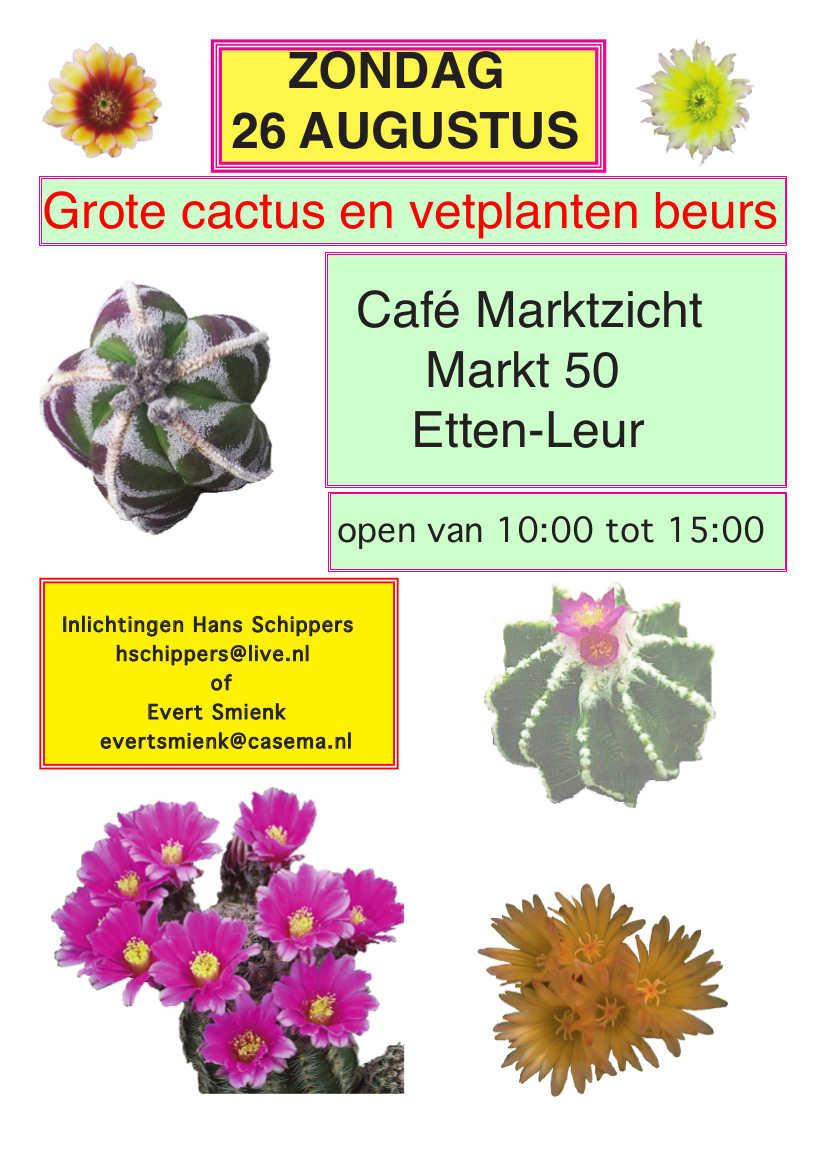 Cactusbeurs In Etten Leur Verplaatst Naar Zondag 26 Augustus 2018