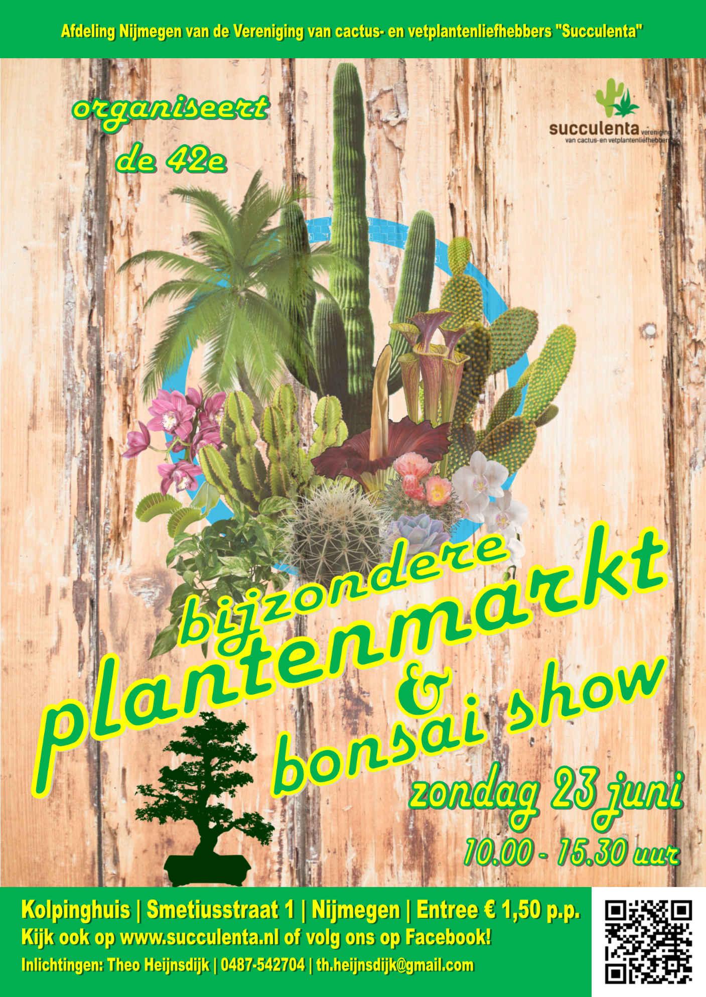 23 Juni: 42ste Plantenmarkt Nijmegen Van Succulenta